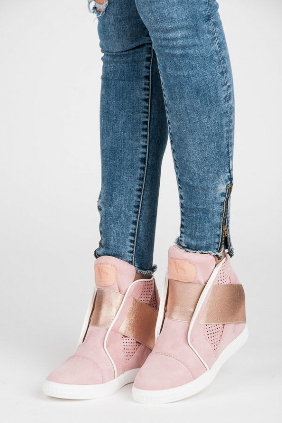 Ažūriniai išskirtinio dizaino rausvos spalvos Sneakers batai VICES 1142-20P
