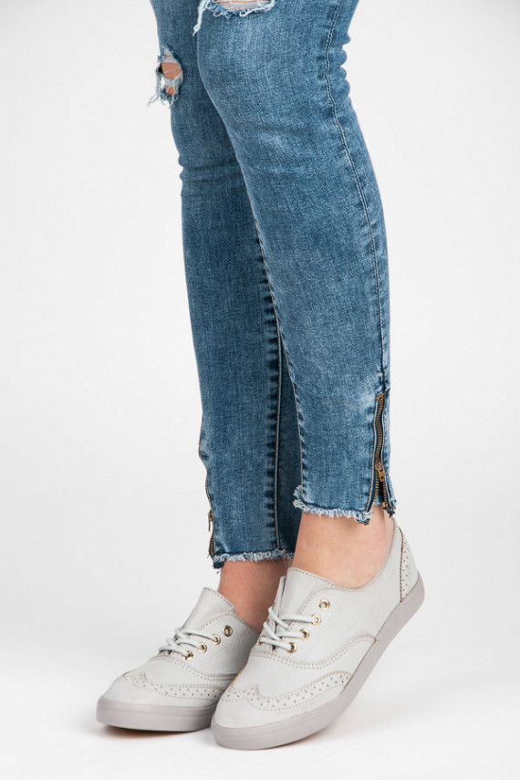 Stilingi pilki suvarstomi laisvalaikio stiliaus batai W-3053G