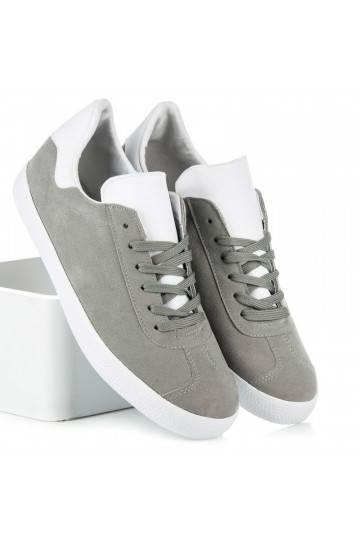 Vyriški pilkos ir baltos spalvų laisvalaikio batai 85-158G