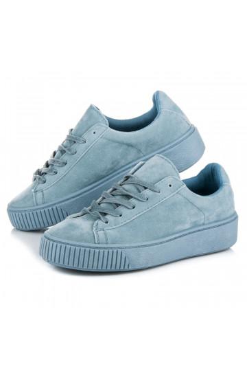 Šviesiai mėlyni CREEPERS modelio batai T025-11BL