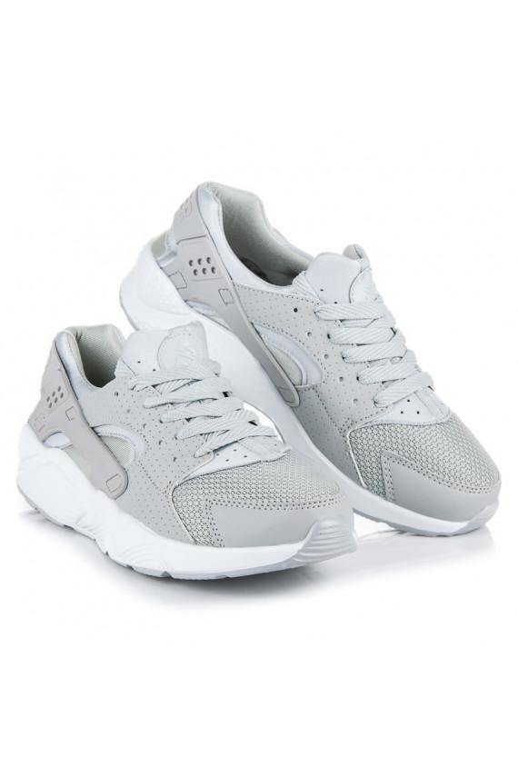 Išskirtinio dizaino šviesiai pilki sportiniai batai B790-7L.G