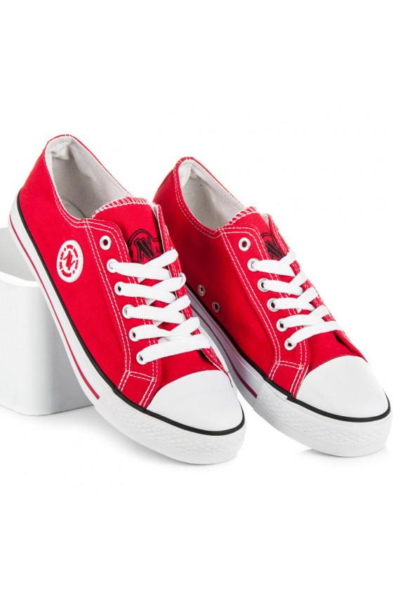 Raudonos spalvos sportbačiai NEW AGE 083R
