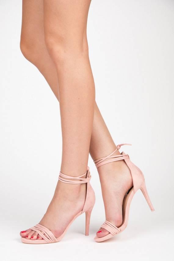 Elegantiški rausvi aukštakulniai VICES sandalai 5057-20P