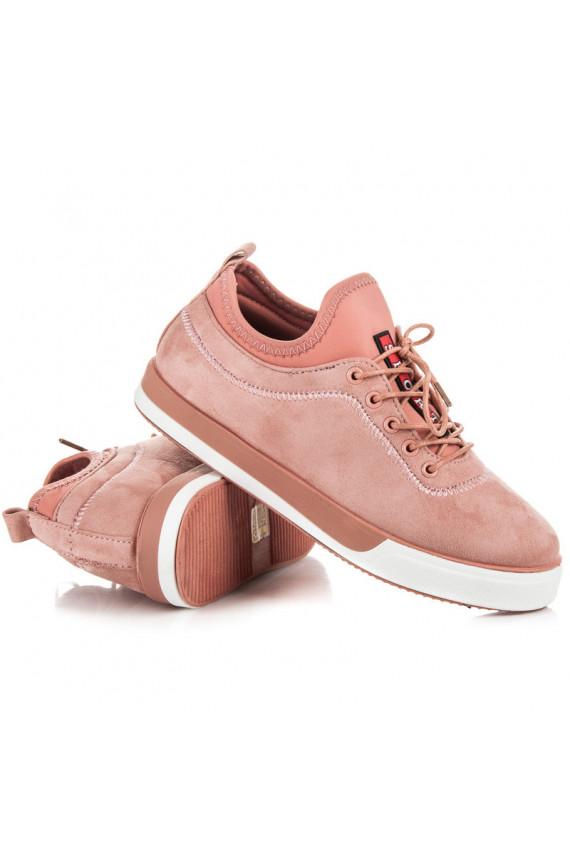 Rausvi moteriški sportinio stiliaus laisvalaikio batai VERSION NB125P
