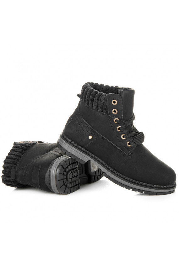 Juodi moteriški aulinukai Ideal Shoes Timber V-5506B