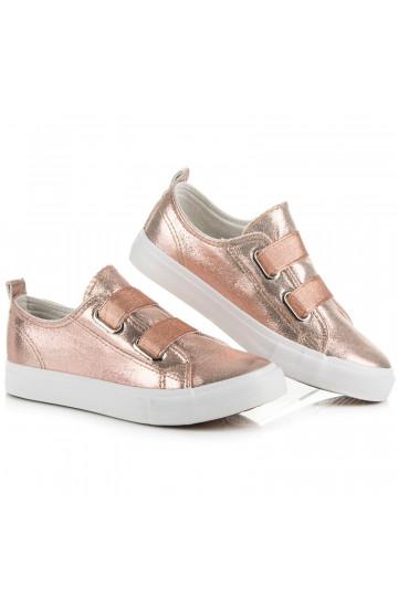 Aukso atspalvio vaikiški batai su guma A-121RO/GO