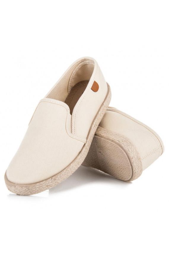 Smėlio spalvos Slip On modelio moteriški batai VICES T012-14BE