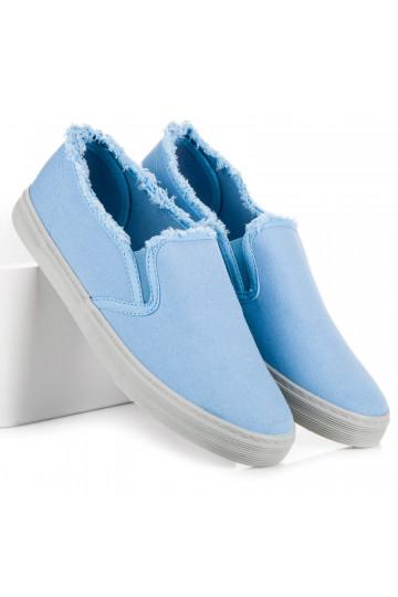 Šviesiai mėlynos medžiagos Slip On batai iš Seastar NB166BL