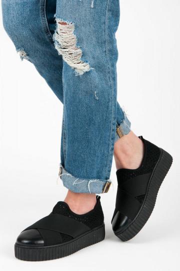 CREEPERS modelio juodi storapadžiai Slip On batai AX01B