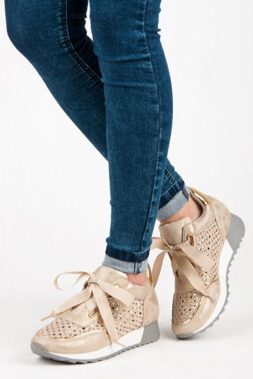 Smėlio spalvos laisvalaikio batai Kylie FASHION K1816601T