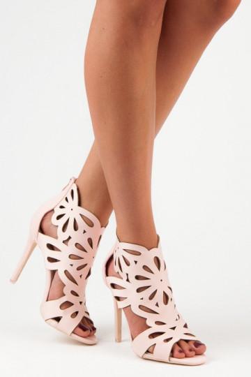 Elegantiški rausvi aukštakulniai sandalai VICES 3D Cut Outs 1440-20P