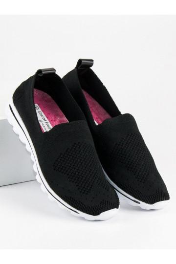 Juodi sportinio stiliaus Slip On batai McKeylor ANH18-13504B