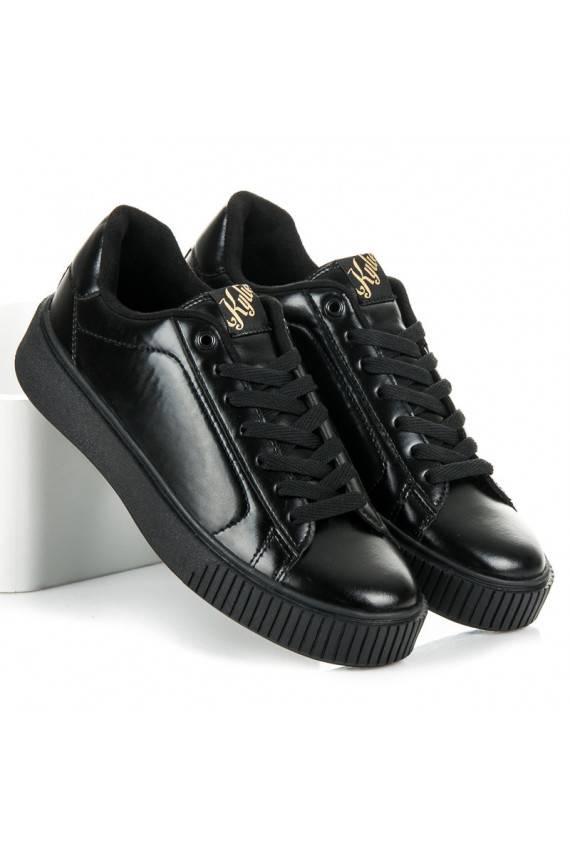 Sportinio stiliaus juodi batai Kylie Platinum K1731202NE