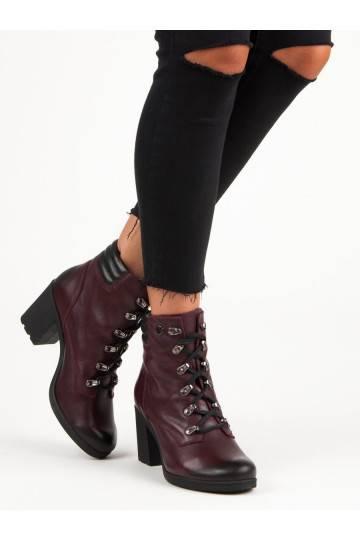 Moteriški tamsiai raudoni batai VINCEZA Lace Up 1274/5BUR