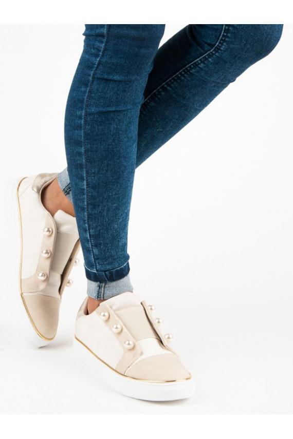 Dramblio kaulo spalvos Slip On modelio laisvalaikio batai American Club Pearls K17391L.BE