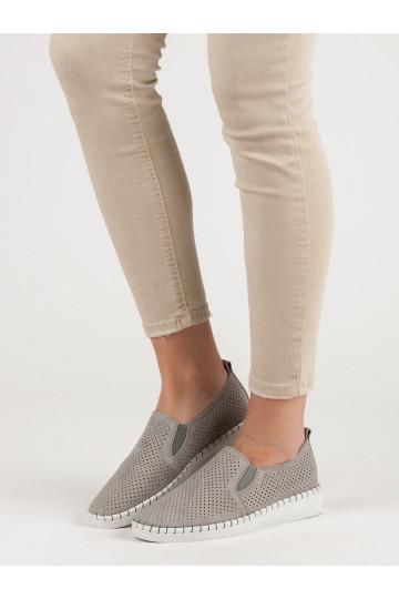 Natūralios odos Slip On batai DP063/19G