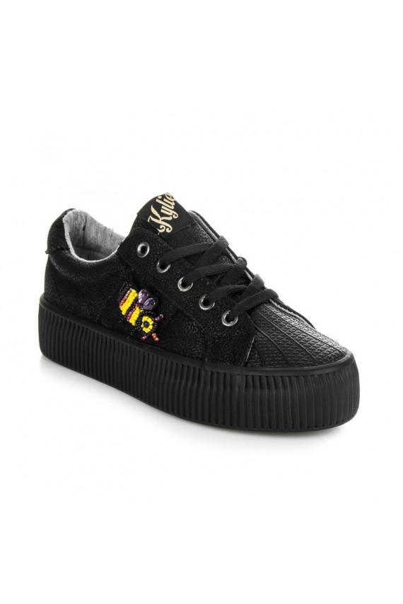 Juodi CREEPERS modelio batai Kylie Crazy Bees K1721004NE