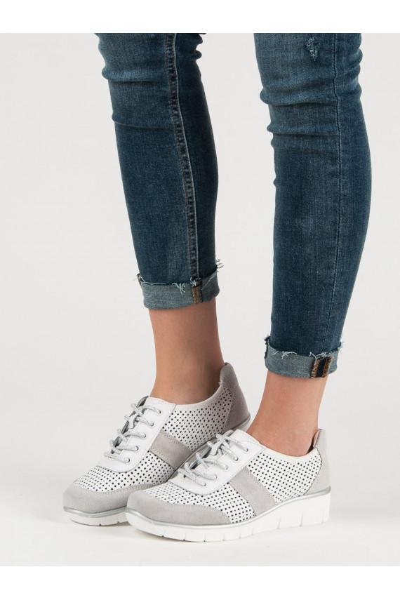 Ažūriniai Natūralios odos batai DP028/19W