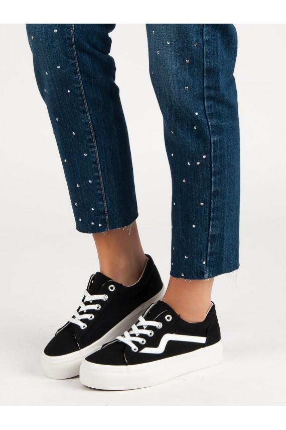 Madingi juodos spalvos laisvalaikio batai K1920607NE