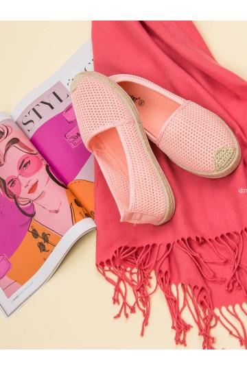 Rožinės spalvos tekstilinės espadrilės JX55P
