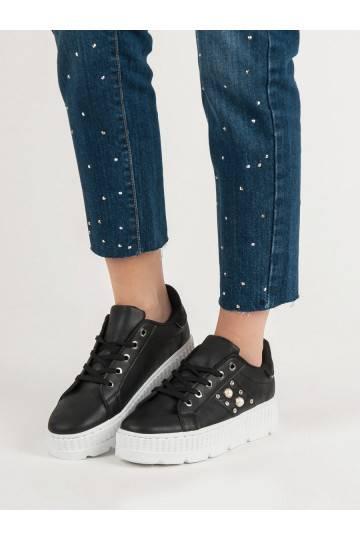 Juodos spalvos batai su platforma B16B