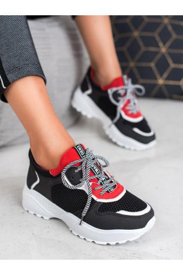 Madingi juodos spalvos Sneakers modelio batai BL170B