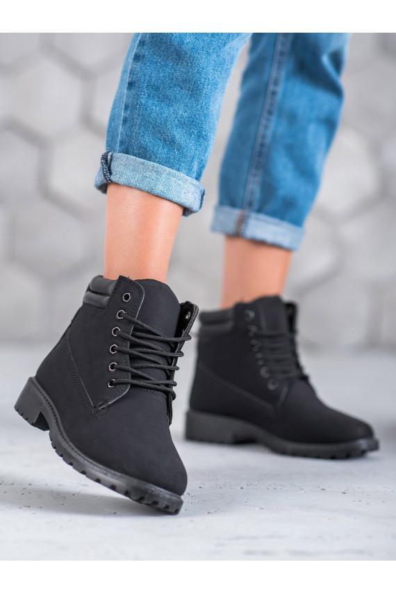 Juodos spalvos batai W-3033B-B
