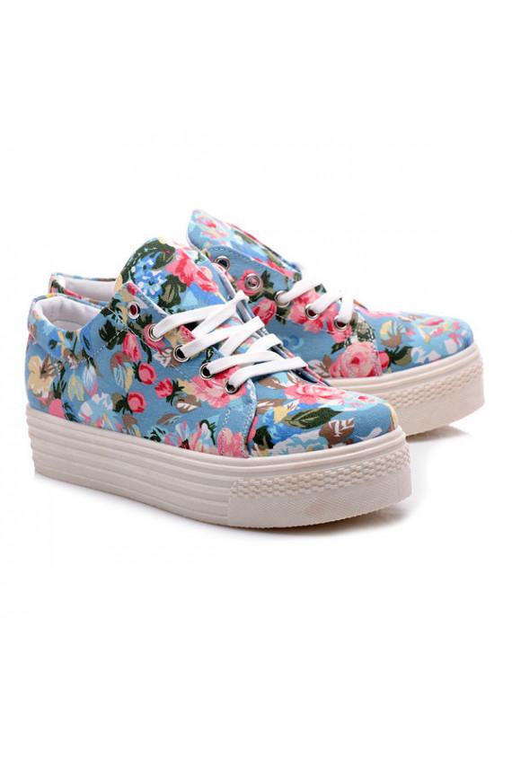 Gėlėti storapadžiai laisvalaikio batai 8776BL
